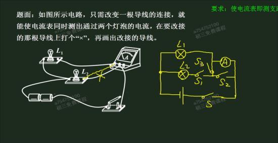 右面的电路图s2,s1,s3都闭合时l1_初三物理