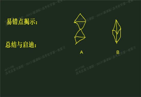 """敢问""""三角双锥""""的空间结构是a还是b?"""