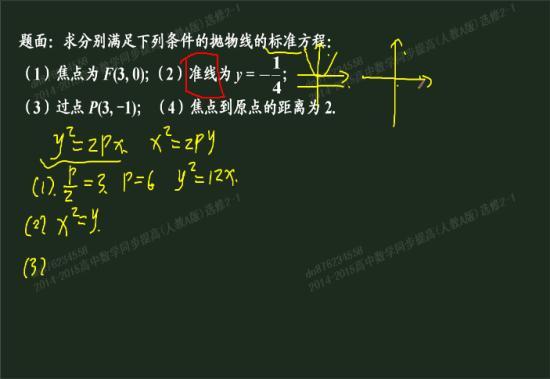 准线方程和抛物线方程有什么关系?
