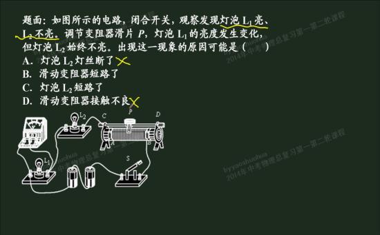 为什么电路中滑动变阻器短路,灯l2既可能_初三物理