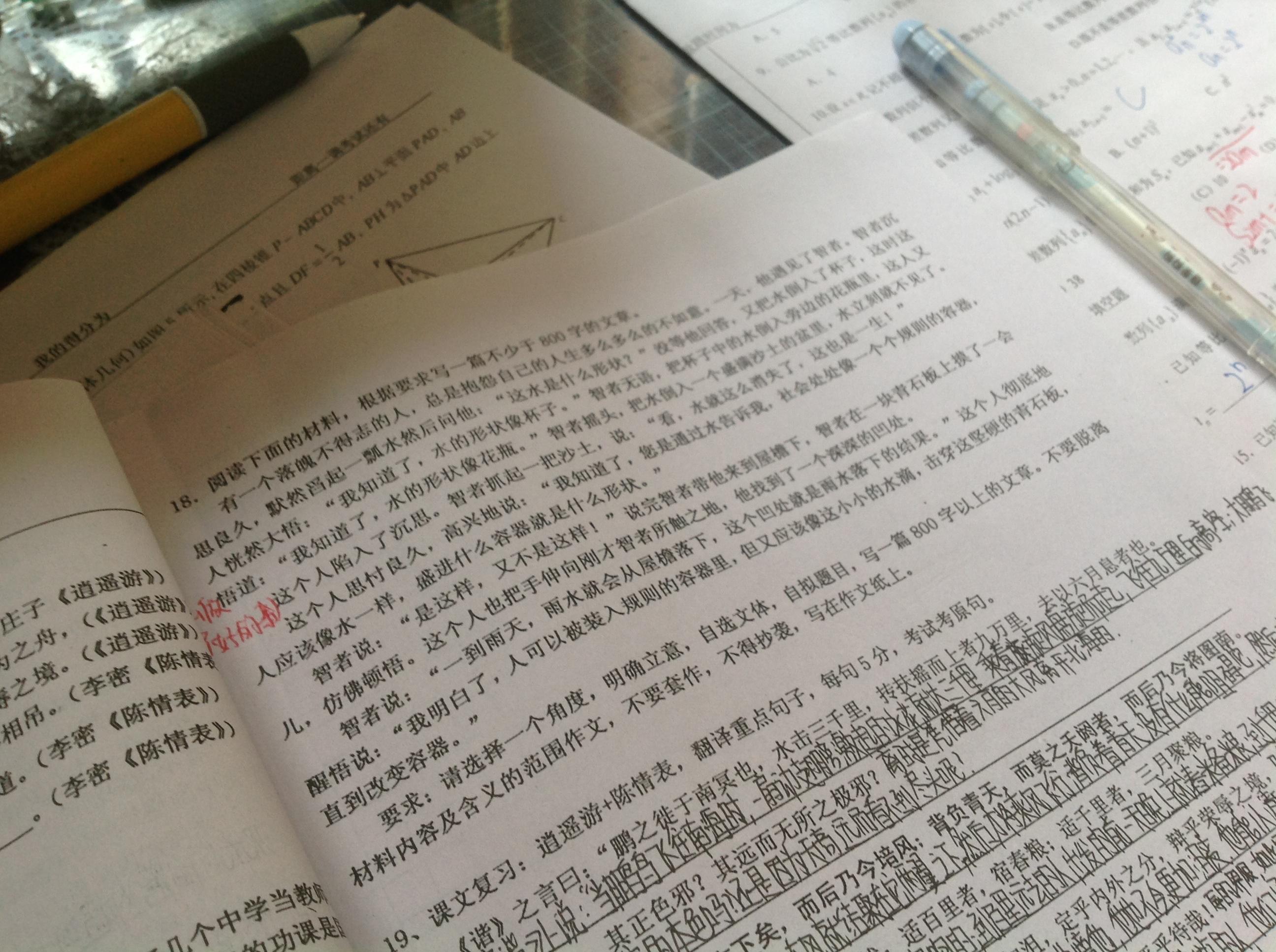 作文是起点高二语文的试卷