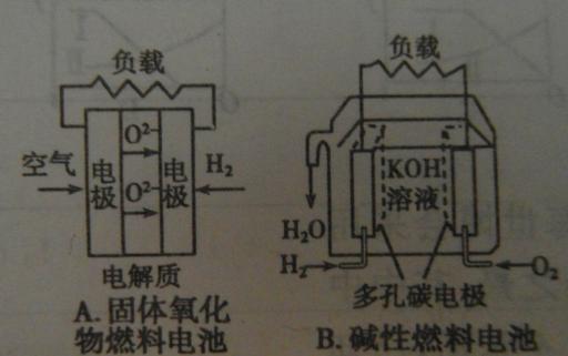 燃料电池正负极反应方程式