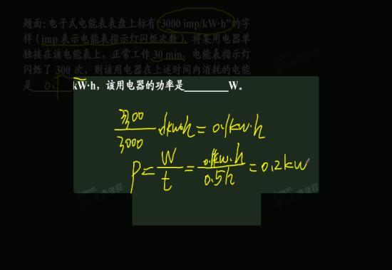 初三物理电功率知识结构图