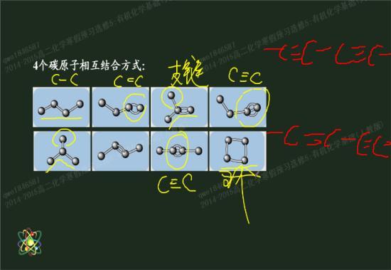 环烷烃中不能有碳碳双键吗?图中的两种情况
