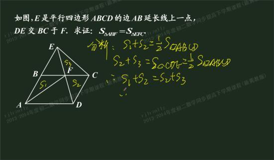 怎么想到三角形ecd的面积是平行四边形a