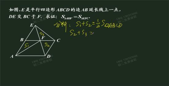 为什么s1 s2=1/2s平行四边形ab