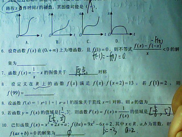 数学必修一_函数_数学