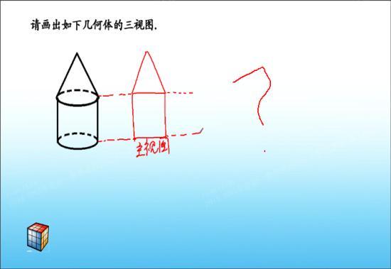 所有的立体图形的三视图怎么画?