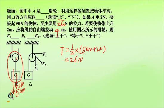 为什么动滑轮动力臂等于阻力臂的2倍 支_初二