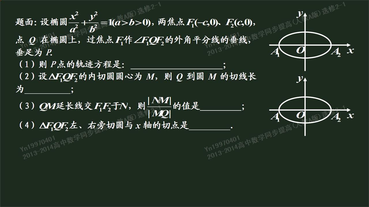 高二数学圆锥曲线方程