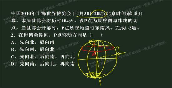 线圈高中表示某高三,如图,m点不也是晨昏_背景纬线和红色地理墙图片