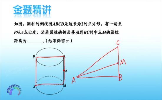 圆柱体是怎么展开成一个三角形的 初二数学几何图形的初步认识图片