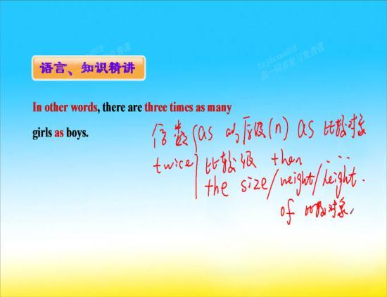 能不能用第二个和第三个造句子?(倍数关系